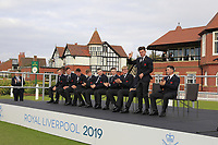Conor Gough (GB&I) being introduced during the Official Opening of the Walker Cup, Royal Liverpool Golf CLub, Hoylake, Cheshire, England. 06/09/2019.<br /> Picture Thos Caffrey / Golffile.ie<br /> <br /> All photo usage must carry mandatory copyright credit (© Golffile | Thos Caffrey)