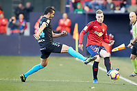Carlos Clerc (defender; CA Osasuna) during the Spanish football of La Liga 123, match between CA Osasuna and CD Lugo at the Sadar stadium, in Pamplona (Navarra), Spain, on Sanday, December 2, 2018.