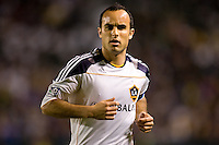LA Galaxy forward Landon Donovan fresh from his stint with EPL's Everton. celebrates scoring his first goal of the new season. The LA Galaxy defeated the New England Revolution 1-0 at Home Depot Center stadium in Carson, California on Saturday evening March 27, 2010.  .