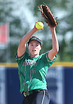 Rancho's Sam Pochop pitches against Reed High during NIAA DI softball action at the University of Nevada, in Reno, Nev., on Thursday, May 19, 2016. Reed won 2-0. Cathleen Allison/Las Vegas Review-Journal