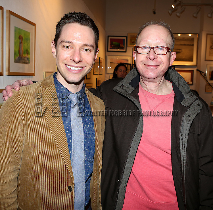 Tim Federle and Jack Feldman attend Tim Federle's book party for 'Five, Six, Seven, Nate!' at Books of Wonder on January 27, 2014 in New York City.