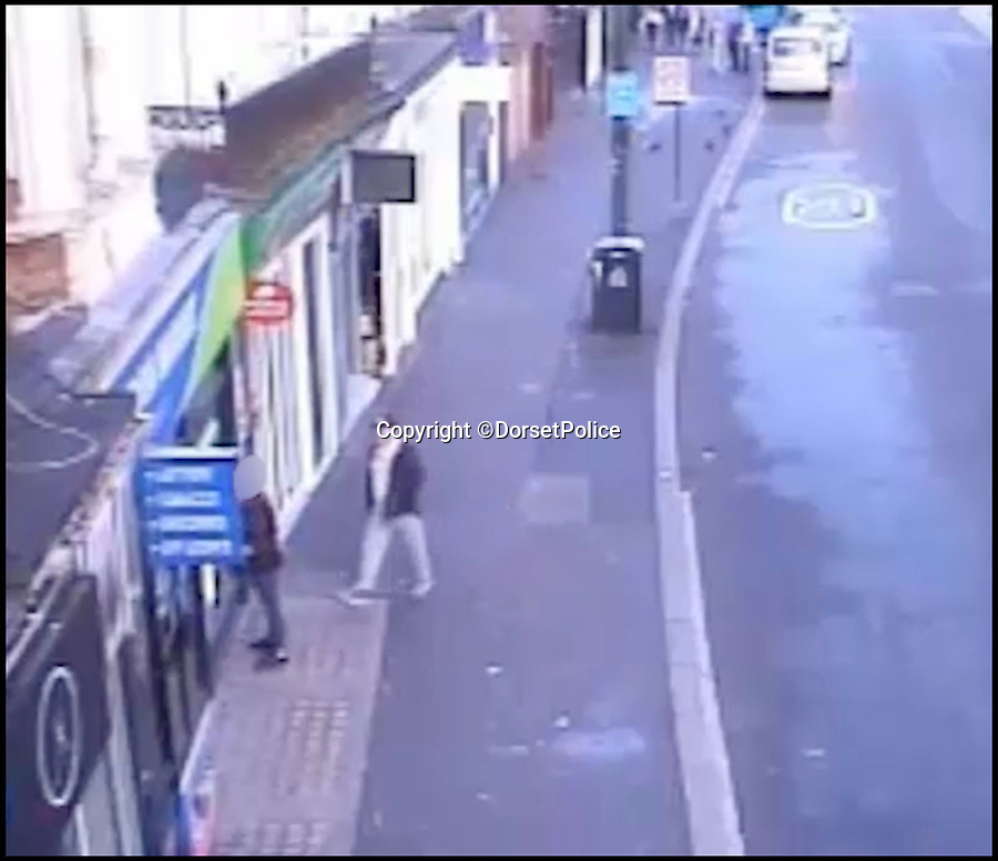 BNPS.co.uk (01202 558833)Pic: DorsetPolice/BNPS<br /> <br /> A screenshot of CCTV footage showing Kevin Boyle seconds before carrying out the attack on Glen Morrant at around 6:25am on Friday 18th August 2017.<br /> <br /> Boyle mistakes Glen Morrant as one of the bystanders 2 hours earlier on in the evening.<br /> <br /> A knife maniac who nearly killed an innocent bystander he mistook for someone he had a row with because both men had ginger hair was today jailed for 21 years.<br /> <br /> Kevin Boyle waited outside a Bournemouth nightclub for the red-headed reveller who had shoved him two hours earlier to appear.<br /> <br /> When clubber Glen Morrant walked out Boyle began to follow him by mistake because he was wearing similar clothes to the first man and also had ginger hair.<br /> <br /> Boyle slashed the 19-year-old by the throat. He was sentenced today at Winchester Crown Court.