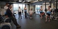 Caversham. Berkshire. UK<br /> Squad banter, before the Para Rowing Team Photo.<br /> 2016 GBRowing, Para Rowing Media Day, UK GBRowing Training base near Reading, Berkshire.<br /> <br /> Friday  15/04/2016<br /> <br /> [Mandatory Credit; Peter SPURRIER/Intersport-images]