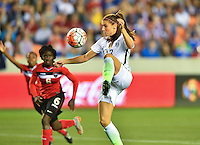 Houston, TX. - February 19, 2016: The U.S. Women's National team take a 5-0 lead over Trinidad & Tobago in second half action in CONCACAF Women's Olympic Qualifying at BBVA Compass Stadium.