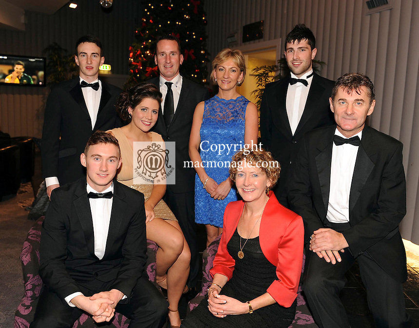 James O'Donoghue, Kerry, Munster senior footballer of the year with his parents Diamuid and Rita, Christina Tangney, Sean O'Leary, Enda and Breda Walshe and Jamie O'Sullivan at the Bord Gais Energy Munster GAA Awards in The Malton Hotel, Killarney at the weekend.<br /> Picture by Don MacMonagle<br /> PR photo from Munster Council<br /> Further info: ed Donnelly e;pro.munster@gaa.ie