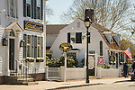 New England home, Essex Village, CT. Main Street. Goods and Curiosities, Griswold Inn Store.