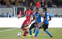 San Jose, CA - July 8, 2016: The San Jose Earthquakes were defeated 1-0 by visiting FC Dallas during a regular season Major League Soccer (MLS) match at Avaya Stadium.