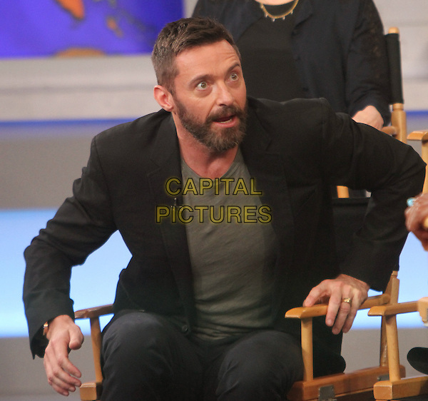 NEW YORK, NY - MAY 8: Hugh Jackman at Good Morning America to promote X-Men Days of Future Past in New York City on May 8, 2014.  <br /> CAP/MPI/RW<br /> &copy;RW/ MediaPunch/Capital Pictures