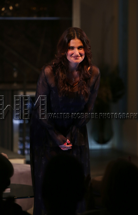 Idina Menzel during the Off-Broadway Opening Night Curtain Call Bows for the Roundabout Theatre Production of 'Skintight at the Laura Pels Theatre on June 21, 2018 in New York City.