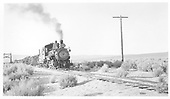 Southern Pacific narrow gauge Ten-Wheeler #8 approaching with a freight near Benton.<br /> Southern Pacific  Benton, CA  9/1942
