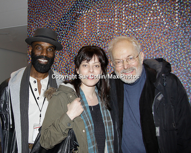 """One Life To Live Timothy Stickney """"RJ Gannon"""" stars in Shakespeare's King Lear with Michael Pennington directed by Arin Arbus on April 19, 2014 at Theatre for a New Audience - Polonsky Shakespeare Center, Brooklyn, New York. Attending the show was actor Austin Pendleton (also was on OLTL) and who performed with Timothy in Romeo and Julliet in Shakespeare in the Park, New York City, NY. (Photo by Sue Coflin/Max Photos)"""