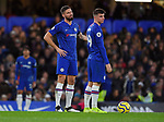Olivier Giroud of Chelsea and Mason Mount of Chelsea after West Ham United's goal during the Premier League match at Stamford Bridge, London. Picture date: 30th November 2019. Picture credit should read: Robin Parker/Sportimage