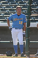 Tyler Flowers of the Myrtle Beach Pelicans vs. the Frederick Keys at BB&T Coastal Field in Myrtle Beach, SC on April 11, 2008