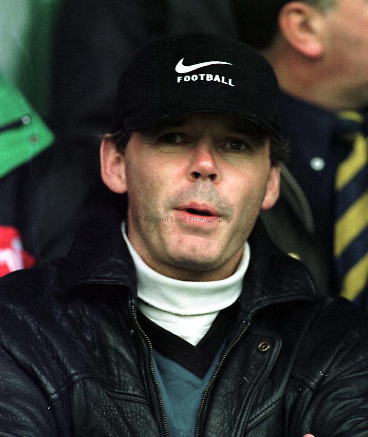 Photo. Richard Lane. .Northampton v Gloucester. 31/10/98. Clive Woodward watches Northampton against Gloucester.