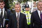 © Joel Goodman - 07973 332324 . 18/09/2013 . Preston , UK . NIGEL EVANS MP leaves Preston Magistrates Court this morning (Wednesday 18th September 2013) . He is accused of indecent assault , sexual assault and rape . The MP , who has denied the charges , quit his position as deputy speaker of the house of commons after the charges were brought but remains a Member of Parliament for the constituency of Ribble Valley . Photo credit : Joel Goodman