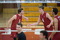 STANFORD, CA - December 30, 2017: JP Reilly, Eric Beatty at Burnham Pavilion. The Stanford Cardinal defeated the Calgary Dinos 3-1.