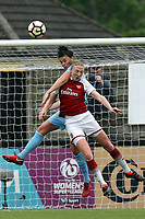 Louise Quinn of Arsenal Women and Jill Scott of Manchester City Women during Arsenal Women vs Manchester City Women, FA Women's Super League FA WSL1 Football at Meadow Park on 12th May 2018