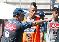 Napoli Calcio ritiro precampionato a Dimaro ( TN)  18 Luglio 2014<br /> nella foto   Rafael Benitez Marek Hamsik