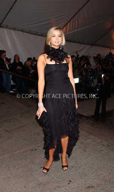 WWW.ACEPIXS.COM . . . . . ....NEW YORK, MAY 2, 2005....Ivanka Trump arrives at The Costume Institute Gala Celebrating Chanel at the Metropolitan Museum of Art.....Please byline: KRISTIN CALLAHAN - ACE PICTURES.. . . . . . ..Ace Pictures, Inc:  ..Craig Ashby (212) 243-8787..e-mail: picturedesk@acepixs.com..web: http://www.acepixs.com