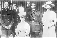 BNPS.co.uk (01202 558833)Pic: FlickrCommonsProject2017/BNPS<br /> <br /> The British royals: King George V and Queen Mary, with their family. Left to right: Albert (later George VI), George, Duke of Kent; Queen Mary (May of Teck); Henry, Duke of Gloucester; King George V; and Princess Mary.<br /> <br /> A Russian Grand Duke branded King George V a 'scoundrel' who 'did not lift a finger' to save the Romanov family in the revolution there of 1917, explosive diaries have revealed.<br /> <br /> The cousin of the overthrown Russian Royal family blamed the British King for their executions because he failed to grant them refuge.<br />  <br /> Dmitri Pavlovich no-holds-barred diary extracts have been published for the first time in a new book by respected historian Coryne Hall, To Free The Romanovs.