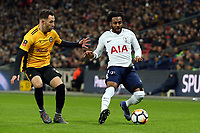 Robbie Willmott of Newport County and Danny Rose of Tottenham Hotspur during Tottenham Hotspur vs Newport County, Emirates FA Cup Football at Wembley Stadium on 7th February 2018