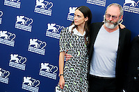Stacy Martin, left, and Liam Cunningham attend the photocall for the movie 'The Childhood Of A Leader' during the 72nd Venice Film Festival at the Palazzo Del Cinema in Venice, Italy, September 5. <br /> UPDATE IMAGES PRESS/Stephen Richie