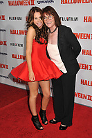 SCOUT TAYLOR-COMPTON &amp; MARGOT KIDDER <br /> &quot;Halloween II&quot; Los Angeles Premiere held at Grauman's Chinese Theatre, Hollywood, CA, USA, <br /> 24th August 2009.<br /> 2 full length strapless red prom dress black jacket white top glasses suit open toe ankle boots <br /> CAP/ADM/BP<br /> &copy;Byron Purvis/AdMedia/Capital Pictures