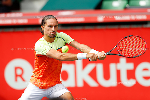 Alexandr Dolgopolov (UKR), <br /> OCTOBER 5, 2017 - Tennis : <br /> Rakuten Japan Open Tennis Championships 2017 <br /> Singles 2nd round match <br /> at Ariake Coliseum, Tokyo, Japan. <br /> (Photo by Yohei Osada/AFLO SPORT)