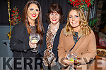 Ciara and Joan Hill and Sarah Moloney attending the Connect Kerry Women's Christmas in Style lunch in the Ashe Hotel on Sunday.