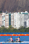 General view, <br /> AUGUST 11, 2016 - Rowing : <br /> Women's Lightweight Double Sculls Semi-fainal <br /> at Lagoa Stadium <br /> during the Rio 2016 Olympic Games in Rio de Janeiro, Brazil. <br /> (Photo by Sho Tamura/AFLO SPORT)