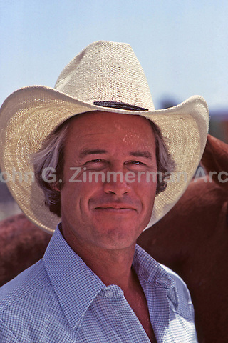"Steve Kanaly as Ray Krebbs on set of ""Dallas,"" TV Show, 1980."