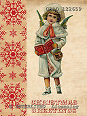 Addy, CHRISTMAS CHILDREN, paintings,+angels, vintage,++++,GBAD122659,#XK# Weihnachten, nostalgisch, Navidad, nostálgico, illustrations, pinturas