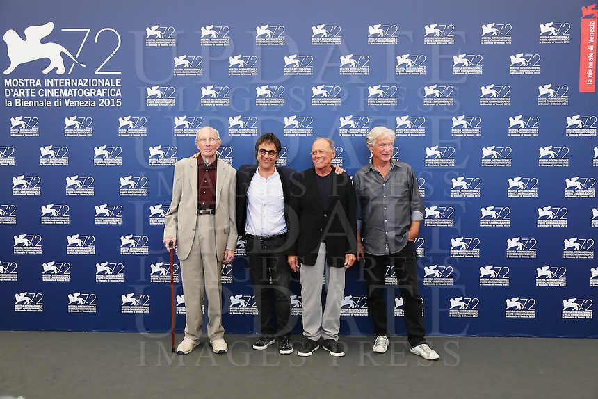 From left, Heinz Lieven, Atom Egoyan, Bruno Ganz and Jurgen Prochnow attend a photocall for the movie 'Remember' during the 72nd Venice Film Festival at the Palazzo Del Cinema in Venice, Italy, September 10, 2015.<br /> UPDATE IMAGES PRESS/Stephen Richie