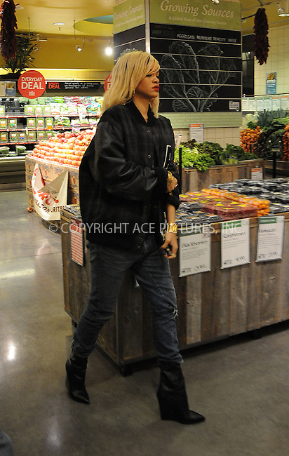 WWW.ACEPIXS.COM . . . . .  ....March 16 2012, New York City....Singer Rihanna takes the healthy option and goes shopping at Whole Foods on March 16 2012 in New York City....Please byline: CURTIS MEANS - ACE PICTURES.... *** ***..Ace Pictures, Inc:  ..Philip Vaughan (212) 243-8787 or (646) 769 0430..e-mail: info@acepixs.com..web: http://www.acepixs.com
