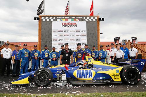 Alexander Rossi, Andretti Autosport Honda, podium