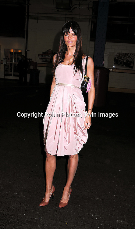 Helena Christensen in Prada dress and purse..arriving at The Food Bank for New York City's 5th Annual..Can-Do Awards Dinner at Pier Sixty at Chelsea Piers in..New York City on April 7, 2008. ..Robin Platzer, Twin Images