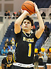 Mike Mariconda #1 of St. Anthony's hits a free throw to seal the victory over Kellenberg in the NSCHSAA varsity boys basketball final against Kellenberg at Hofstra University on Tuesday, Mar. 1, 2016. St. Anthony's won by a score of 49-45.