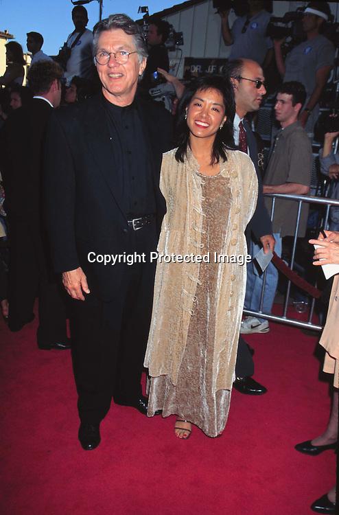 "©KATHY HUTCHINS/HUTCHINS.7/1/97 "" CONTACT "" PREMIERE.TOM SKERRIT & DATE JULIE TOKASHIKI "" HE IS IN MOVIE"""