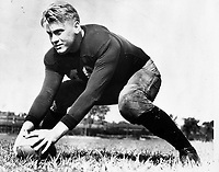 Ford as a center on the University of Michigan football team, 31 December 1932 or 1933<br /> <br /> PHOTO : Courtesy Gerald R. Ford Library.