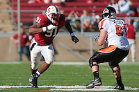 18 November 2006: Pannel Egboh during Stanford's 30-7 loss to Oregon State at Stanford Stadium in Stanford, CA.