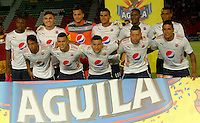 IBAGUÉ -COLOMBIA, 12-01-2006. Jugadores del Independiente Medellín posan para una foto previo al encuentro con Deportes Tolima por la fecha 15 de la Liga Aguila I 2016 jugado en el estadio Manuel Murillo Toro de la ciudad de Ibagué./ Players of Independiente Medellin pose to a photo prior a match against Deportes Tolima for the date 15 of the Aguila League I 2016 played at Manuel Murillo Toro stadium in Ibague city. Photo: VizzorImage / Juan Carlos Escobar / Str