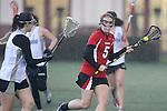 Santa Barbara, CA 02/19/11 - Samantha Jensen (Utah #5) and Nikki Exerjian (Nevada-Reno #17) in action during the Utah-Nevada Reno game at the 2011 Santa Barbara Shootout.