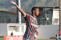 RIO DE JANEIRO, RJ, 01.02.2014 -Michael  do Fluminense comemora seu gol durante o jogo contra Bangu pela quinta rodada do Cariocão em Moça Bonita. (Foto. Néstor J. Beremblum / Brazil Photo Press)