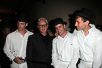 """Malcolm McDowell and Droogs<br /> at """"A Clockwork Orange"""" at The Malcolm McDowell Q&A Screenings, Alex Theater, Glendale, CA 04-01-14<br /> David Edwards/DailyCeleb.Com 818-249-4998"""