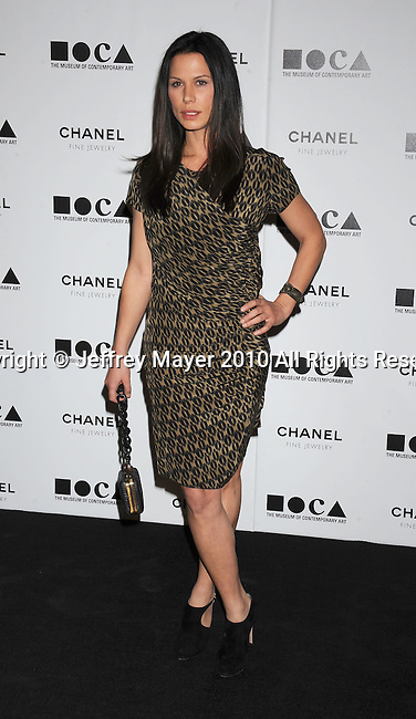 LOS ANGELES, CA. - November 13: Rhona Mitra arrives at MOCA Presents: Envisioned By Artist Doug Aitken at MOCA Grand Avenue on November 13, 2010 in Los Angeles, California.