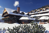 Resort, inn, Vermont, TFL, VT, Trapp Family Lodge, Stowe, snow, winter.