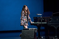 Alana Adelman '20 gave an emotional performance on piano.<br /> Occidental College students perform and compete during Apollo Night, one of Oxy's biggest talent showcases, on Feb. 24, 2017 in Thorne Hall. Sponsored by ASOC and hosted by the Black Student Alliance as part of Black History Month.<br /> (Photo by Marc Campos, Occidental College Photographer)