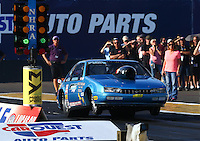 Feb 28, 2016; Chandler, AZ, USA; NHRA super gas driver Clint Fishel during the Carquest Nationals at Wild Horse Pass Motorsports Park. Mandatory Credit: Mark J. Rebilas-