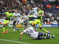 Preston North End's Tom Barkuizen scores his sides third goal <br /> <br /> Photographer Mick Walker/CameraSport<br /> <br /> The EFL Sky Bet Championship - Preston North End v Reading - Saturday 11th March 2017 - Deepdale - Preston<br /> <br /> World Copyright &copy; 2017 CameraSport. All rights reserved. 43 Linden Ave. Countesthorpe. Leicester. England. LE8 5PG - Tel: +44 (0) 116 277 4147 - admin@camerasport.com - www.camerasport.com