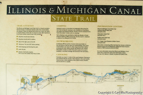 Illinois & Michigan Canal State Trail Sign